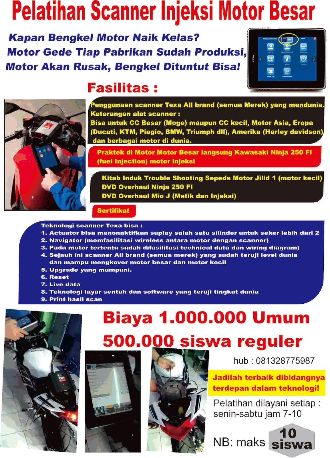 CHAMPION TRAINING CENTRE JOGJA Motor Injeksi Mio J Macet Kode MIL