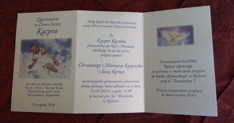 Zaproszenia Wydawnictwa Cedro I Synowie Zaproszenia Na Chrzest