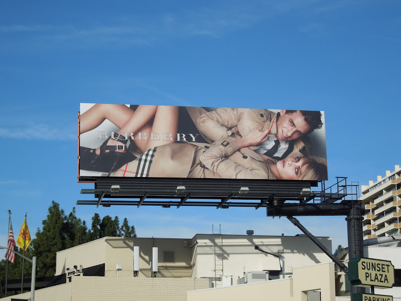 Burberry trench coats billboard