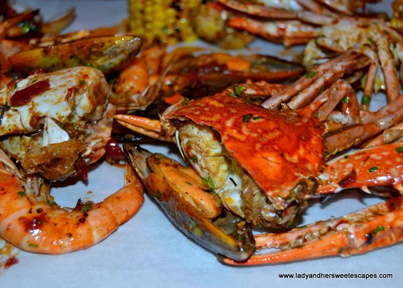 seafood at Dampa restaurant Dubai