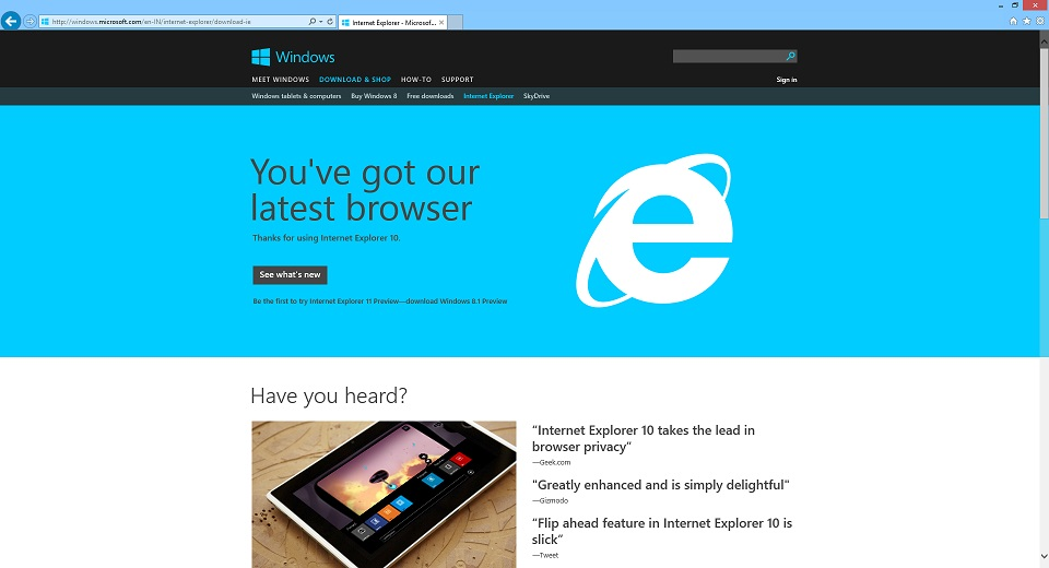 Explorer 11 download for windows 8 | internet explorer 11 windows