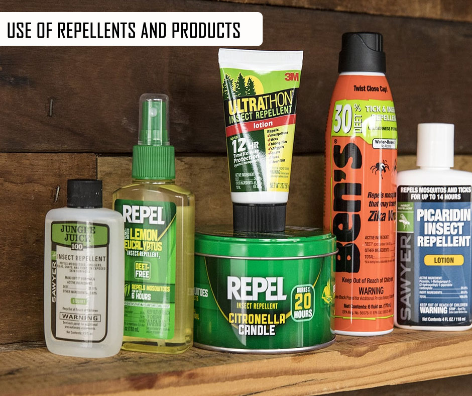 Use Of Repellents And Products
