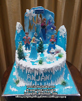 Frozen Buttercream Birthday Cake