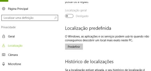 localização windows 10
