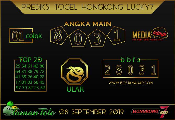 Prediksi Togel HONGKONG LUCKY 7 TAMAN TOTO 08 SEPTEMBER 2019