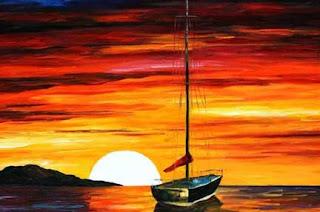 Lukisan pemandangan Sunset; Pengalaman Estetis yang diwujudkan pada Karya Seni Rupa