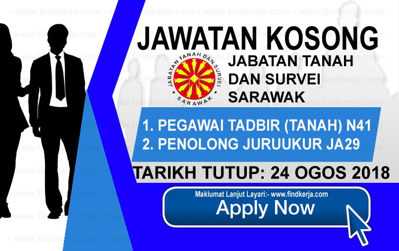 Jawatan Kerja Kosong Jabatan Tanah dan Survei Sarawak logo www.ohjob.info www.findkerja.com ogos 2018