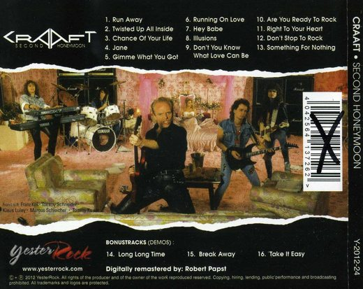 CRAAFT - Second Honeymoon [YesterRock remastered +3] back