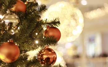 Wallpaper: Christmas Tree, Decorations, Balls