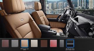 Nội thất Mercedes AMG G63 2019 màu Vàng Leather ZK6