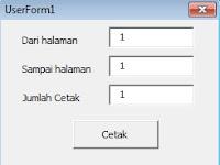VBA Excel Print Dari Nomor Sampai Nomor - Userform Excel