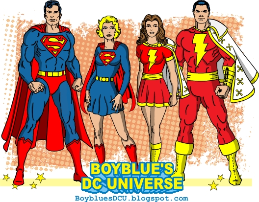 Superman, Supergirl, Mary Marvel, Captain Marvel
