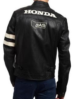 Gambar Jaket Kulit Honda GAS Hitam
