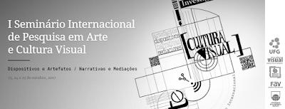 I Seminário Internacional de Pesquisa em Arte e Cultura Visual: Dispositivos e Artefatos / Narrativas e Mediações. Montevidéu, Uruguai: UDELAR, 23 a 25 de outubro de 2017. Envio de trabalhos até 14 de julho. http://seminarioculturavisual.enba.edu.uy