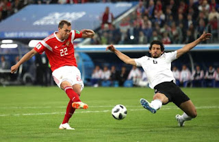 Egypt lose 3-1 to Russia, out of World Cup if Uruguay win