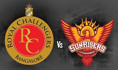 RCB vs SRH match live score IPL 10 2017