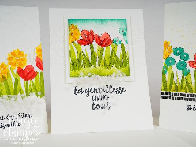 Cartes Stampin' Up! faite avec le jeu Expressions printanières