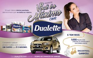 """Promoção Dualette 2015 - """"Você é o máximo com Dualette"""""""