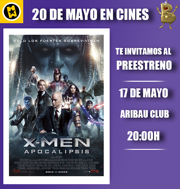 sorteo de preestreno de X-Men: Apocalipsis