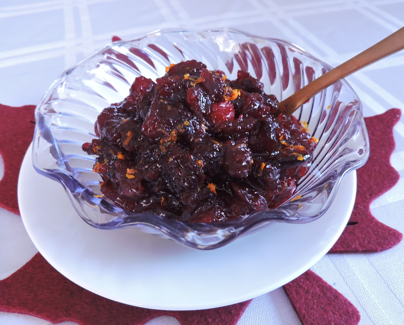 Maple Honey Cranberry Sauce
