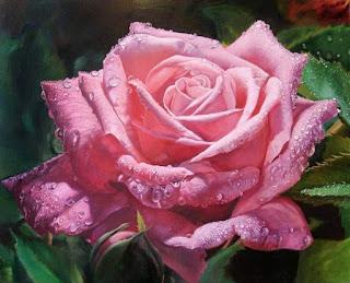 pinturas-de-bodegones-con-flores rosas-flores-pintura