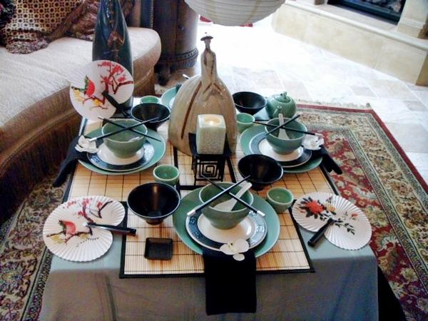 decorar mesa japones