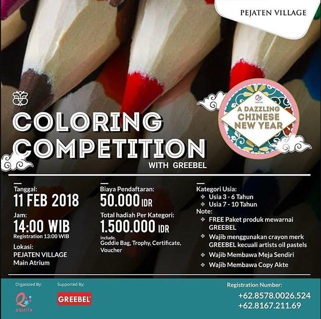 Lomba Coloring Mewarnai Competition 2018 Bersama Greebel Lomba