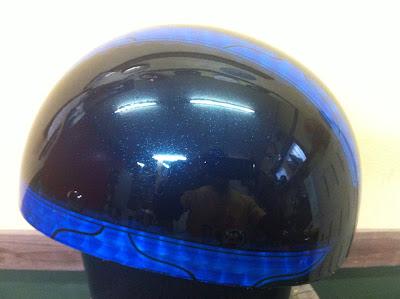 98597462 - カスタムペイント工程  バッドボーンヘルメット シルバーリーフ スピニング