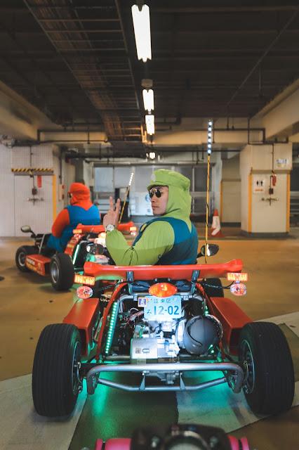 Leo Chan dressed as Luigi Go-Kart Experience Tokyo
