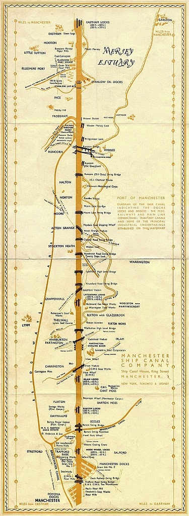 1923 Manchester Ship Canal strip map