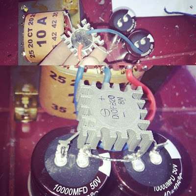 Power Supply circuit for power amplfiier project DIY