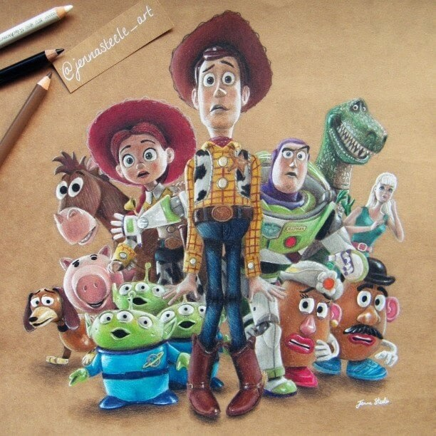 15-Toy-Story-Disney-Pixar-Jenna-Steele-Collection-of-Pencil-Drawings-www-designstack-co