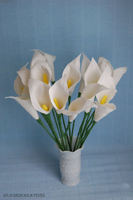 calla lily paper craft paper calla lilies handmade paper flowers by 3492