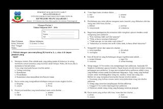 Soal Ulangan Harian Bahasa Indonesia Kelas 5 Semester 2