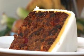Torta de Frutas y Mazapan