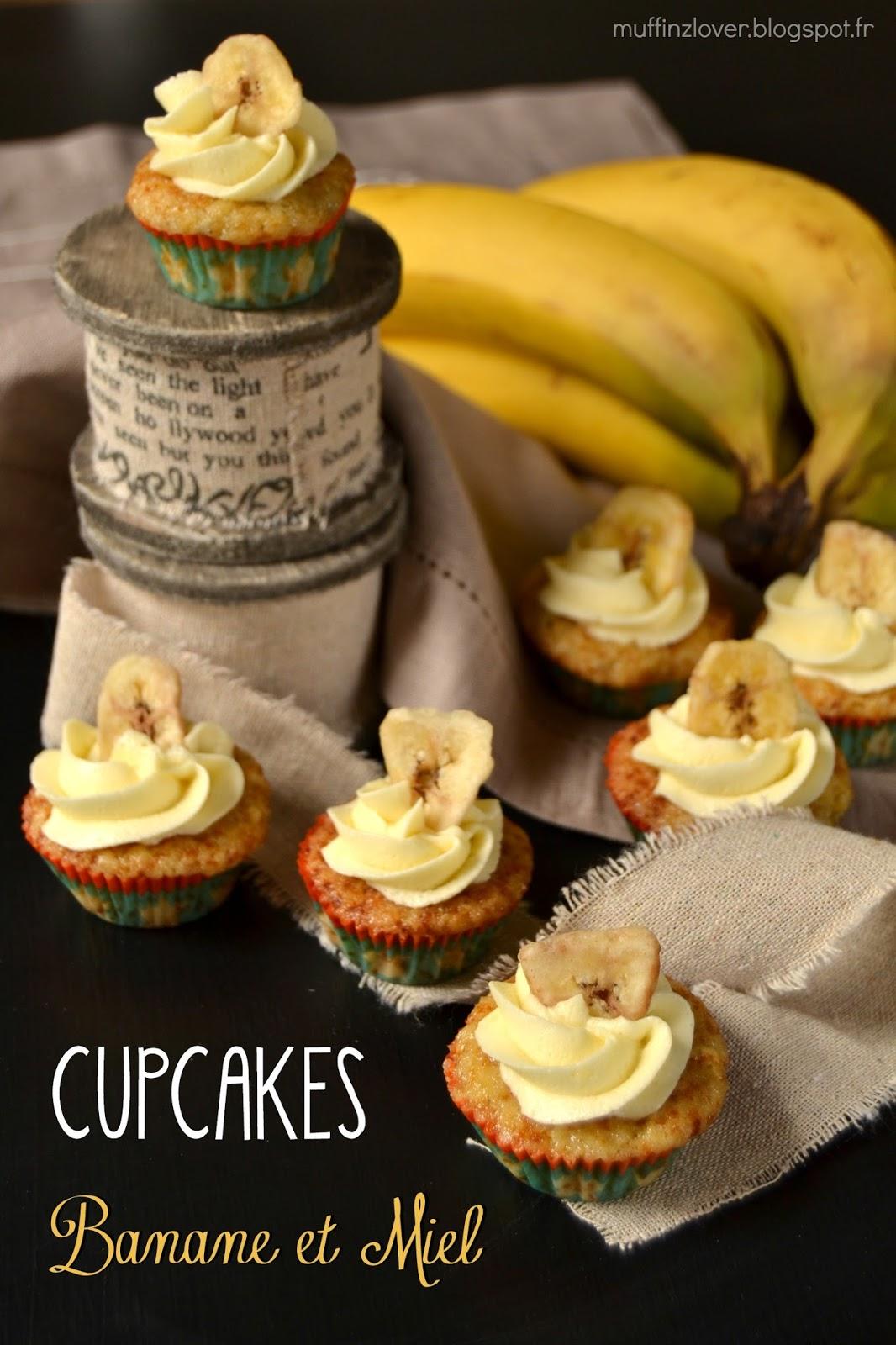Recette Cupcakes banane-miel - muffinzlover.blogspot.fr