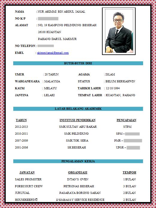 resume kosong pdf