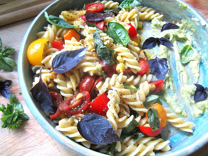 Stacey Snacks: Summer Pasta Salad w/ Charred Corn & Cherry ...