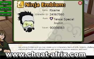 Cheat Token 10000000 Ninja Saga