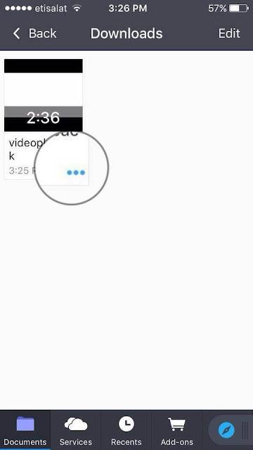 كيفية حفظ فيديو يوتيوب في البوم الصور على ايفون