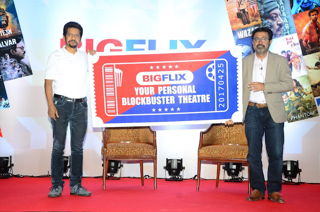 Mr. Shibasish Sarkar, COO, Reliance Entertainment & Mr. Amit Khanduja, CEO, Reliance Entertainment-Digital  at BigFlix Launch