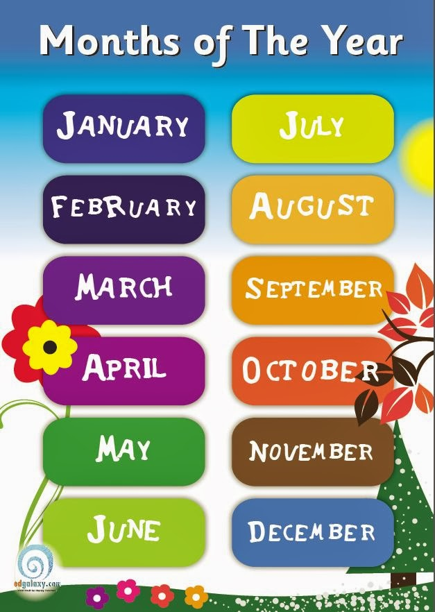 English With Eve Months Of The Year Song
