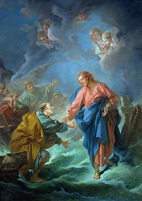 Imagem de Jesus Cristo convidando São Pedro a andar sobre as águas, pintura, #1