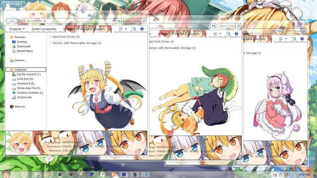 Kobayashi-san Chi no Maid Dragon Theme Win 7 by Enji Riz Lazuardi