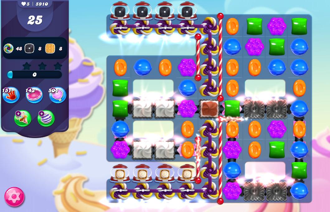 Candy Crush Saga level 5910
