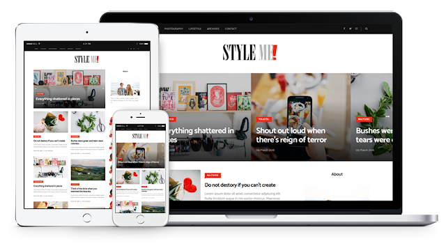 Style me responsive magazine blogger template