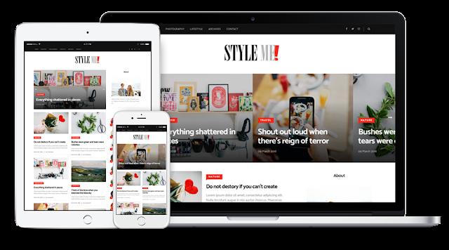 Style me responsive magazine blogger template