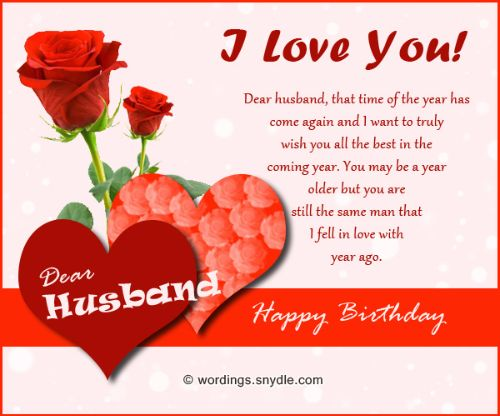 Cute Images of Romantic Birthday Wishes for Husband from Wife – Happy Birthday Greeting for Wife