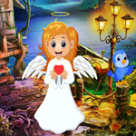 Games4King Cute Angel Rescue Walkthrough
