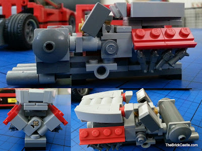 Engine block LEGO Ferrari F40 set 10248